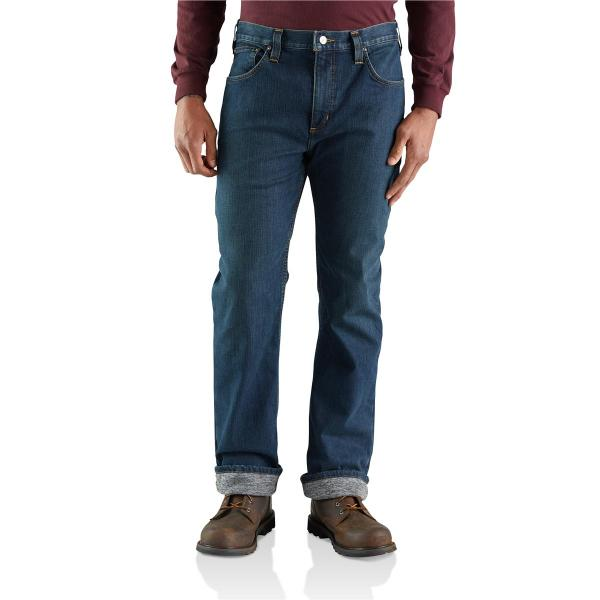 Carhartt Men's Rugged Flex Relaxed Straight Jean Knit Lined