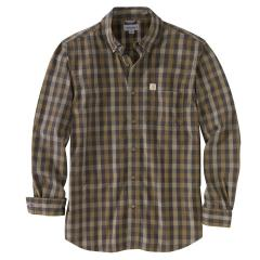 Men's Essential Plaid Button Down Long Sleeve Shirt