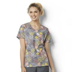 Printed V-Neck Top Extended Sizes