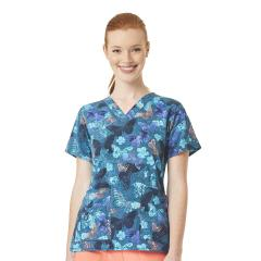 V-Neck Print Top Extended Sizes