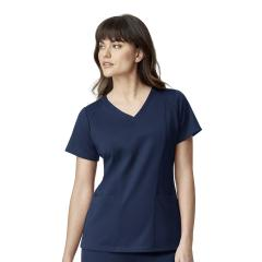 Ponte Knit V-Neck Top Extended Sizes