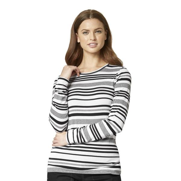 Wink Scrubs Vary Striped Tee Extended Sizes