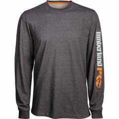 Men's Big & Tall Base Plate Blended LS Tee - Charcoal Htr