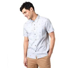 Men's Cotton Short Sleeve Button Up