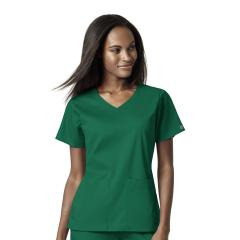 Women's 4 Pocket Wrap Top Extended Sizes