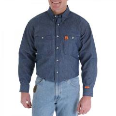 Men's Riggs Workwear Flame Resistant Work Shirt - Denim