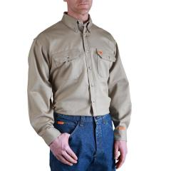 Men's Riggs Workwear Flame Resistant Work Shirt - Khaki