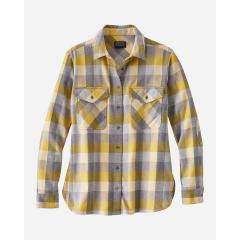 Women's Elbow Patch Flannel Shirt