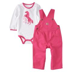 Infants' 2 Piece Canvas Overall Set
