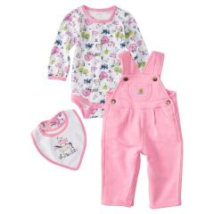 Infants' 3 Piece On The Farm Overall Set