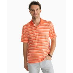Men's Heather Driver Stripe Polo
