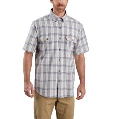 Men's Original Fit Midweight SS Button Front Plaid Shirt TW175