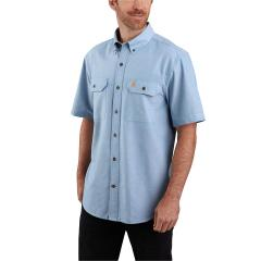 Men's Original Fit Midweight SS Button Front Shirt TW369