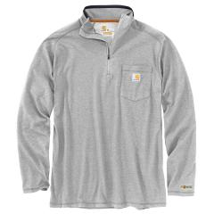 Men's Force Relaxed Fit LS Quarter Zip Pocket Shirt