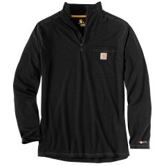 Men's Force Relaxed Fit Midweight LS Quarter Zip Pocket Shirt TK255