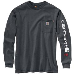 Men's Flame Resistant Force Original Fit Midweight LS Signature Sleeve Logo Shirt TK130