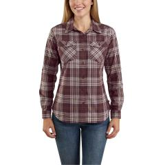 Women's Rugged Flex Slightly Fitted LS Button Plaid Shirt TW230