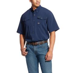 Ariat Men's Rebar Made Tough Durastretch Vent Shirt - Navy