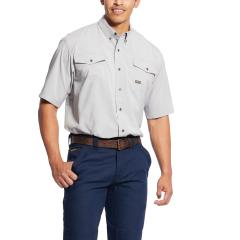 Ariat Men's Rebar Made Tough Durastretch Vent Shirt - Alloy