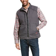 Men's FR Duralight Stretch Canvas Insulated Vest - Iron Gray
