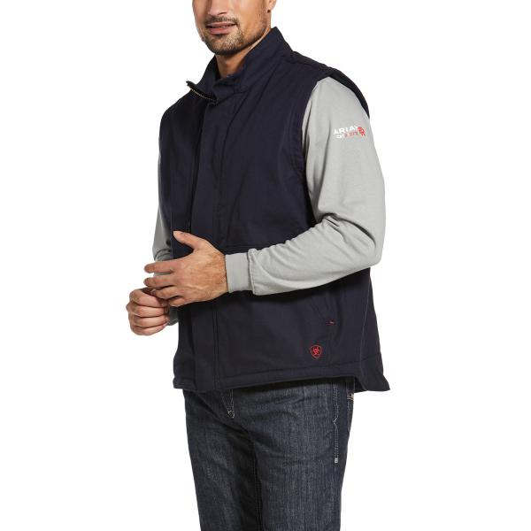 Ariat Men's FR Workhorse Insulated Vest - Navy