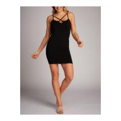 Women's Cross Front Slip Dress